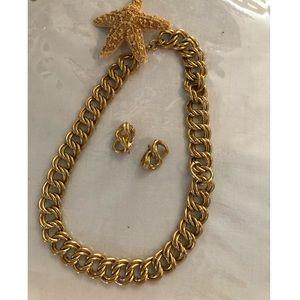 Trifari Necklace & Earrings